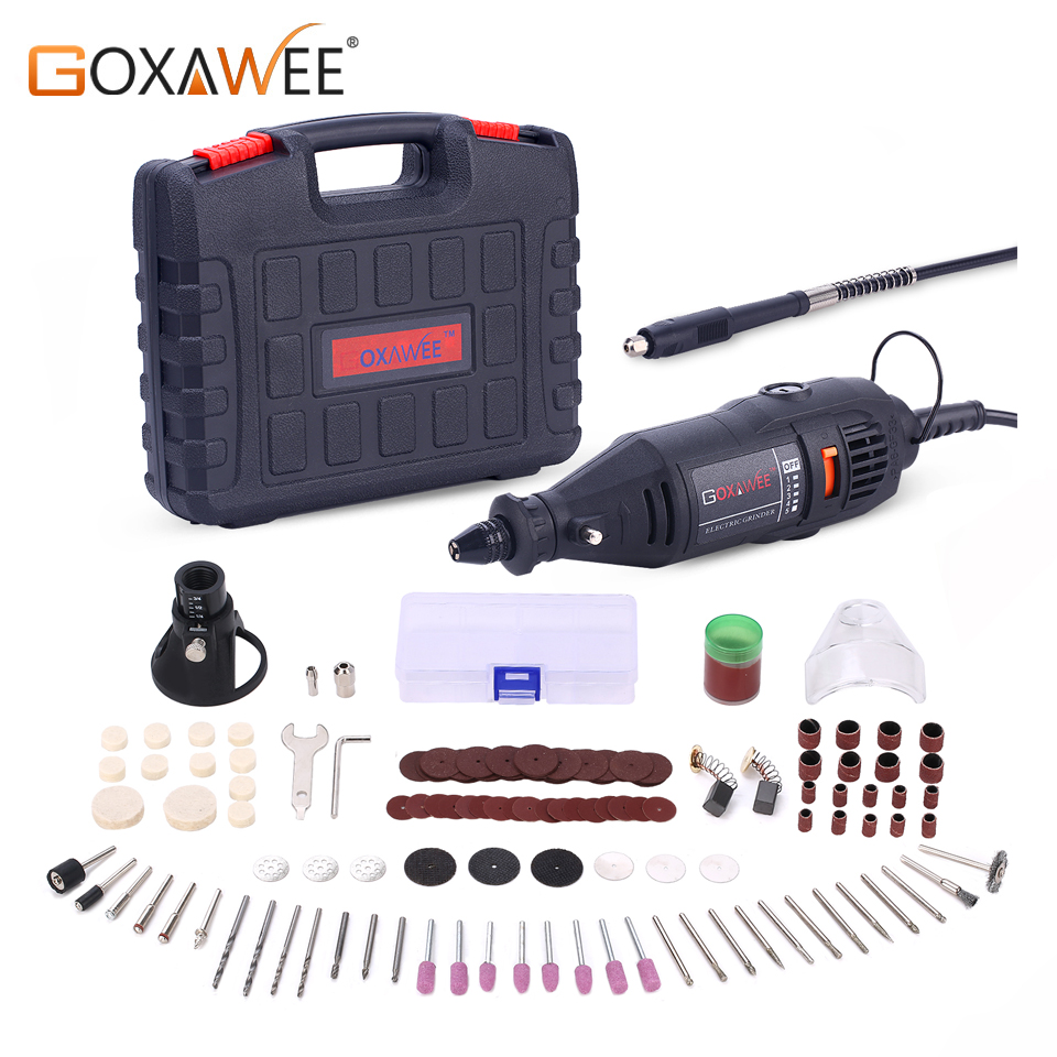 GOXAWEE 220V Power Tools Electric Mini Drill Grinder Polisher Engraver Rotary Tools kit For Dremel from Gearbest